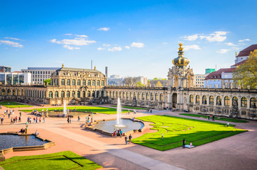 Famous Zwinger palace (Der Dresdner Zwinger) Art Gallery of Dresden, Saxony, Germany