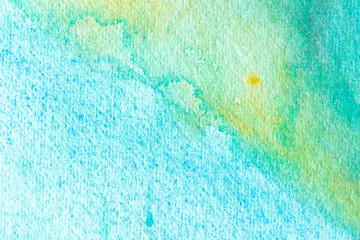 Blue abstract watercolor macro texture background. Hand painted watercolor background