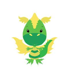 Little cute green dragon