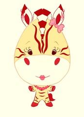 Funny Fashionable Zebra Girl