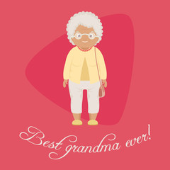 Best grandma ever card/poster