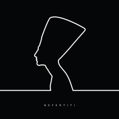nefertiti face beauty illustration