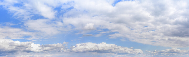 Beautiful cloudy sky panorama.