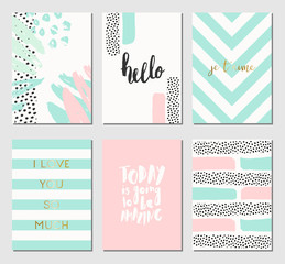 Abstract Design Cards Collection