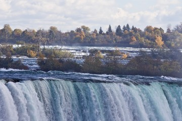 Beautiful photo of amazing powerful Niagara waterfall