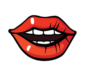 Pop art style lips sticker