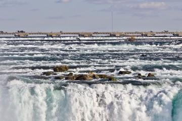 Beautiful isolated photo of amazing powerful Niagara waterfall