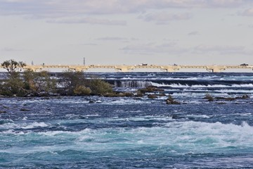 Beautiful picture with amazing powerful Niagara river