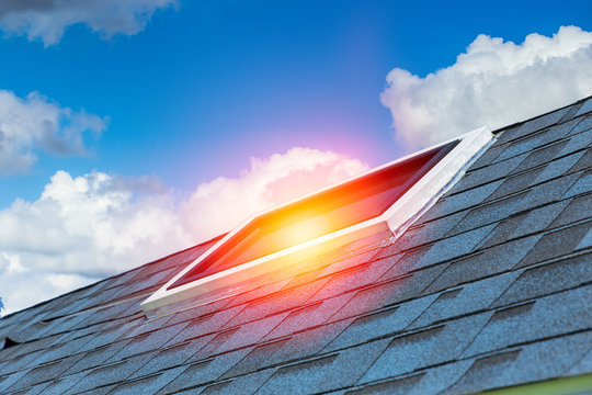 House sun roof to save energy design architecture.