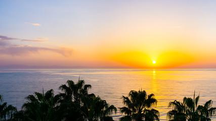 sunset on the sea. sunrise