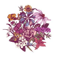 Summer Vintage Floral Background