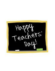 Happy Teachers' day blackboard