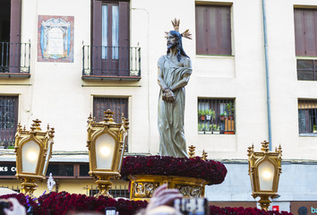 Editorial use only - Jesús el cautivo, in the procession of Holy Week in Madrid, April 13th, 2017