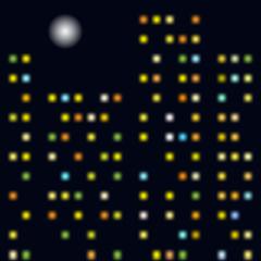 Vector background - night city