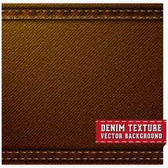 Denim jeans texture and background. Vector and illustrations.