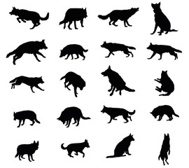 Set of vector dogs