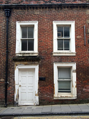 derelict empty terraced house north of england