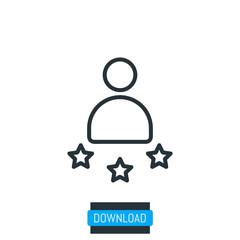 Customer icon, vector