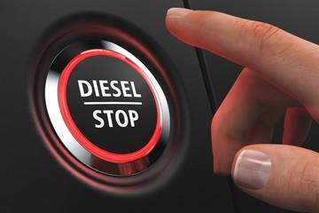 Button Diesel Stop - Hand
