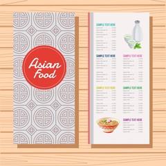 japan food menu template