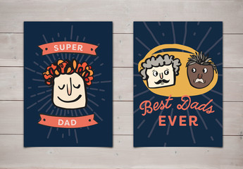 Cartoon Dads Father's Day Cards