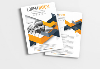 Brochure Layout with Gray and Orange Accents 1
