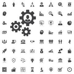 human settings icon vector