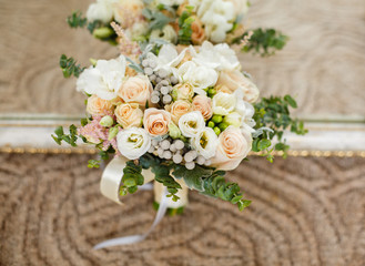 Tender wedding bouquet