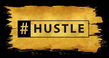 Hashtag hustle in gold