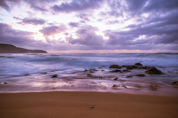Daybreak Seascape in Purple
