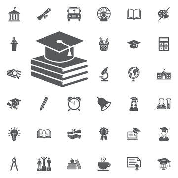 book and Graduation Cap icon
