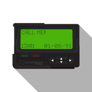 Pager icon vector flat design.