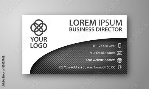 Clean two color business card carbon fiber stock image and clean two color business card carbon fiber reheart Choice Image