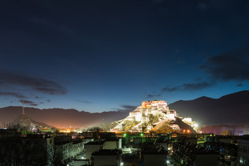 lhasa city at night