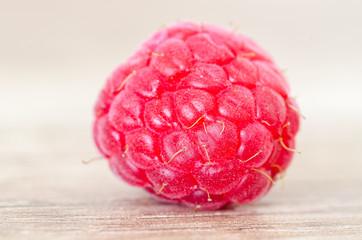 Fresh raspberry in detail