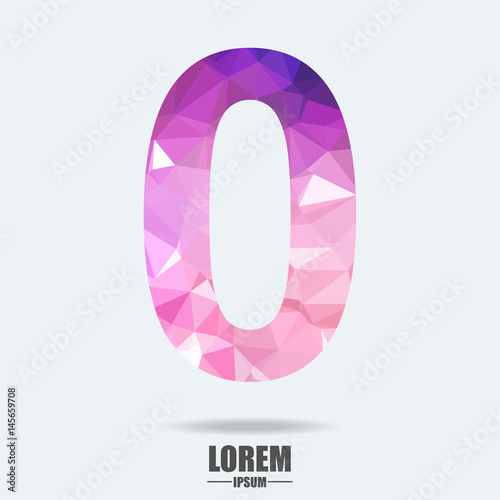 abstract trend polygon letter 0 logo design template art tech media app creative sign