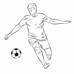 illustration of soccer player, vector draw