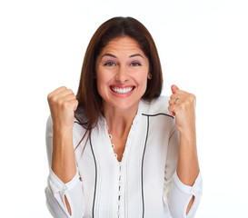 Happy laughing woman