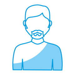 man avatar icon over white background. vector illustration