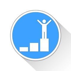 success Button Icon Business Concept