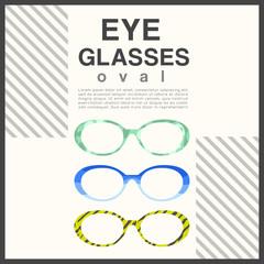Eyeglasses Frame Type : Vector Illustration