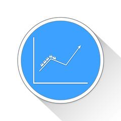 Roller coaster Graph Button Icon Business Concept