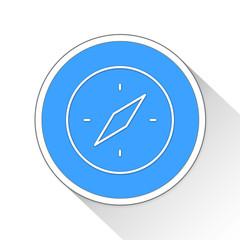 Compass Button Icon Business Concept