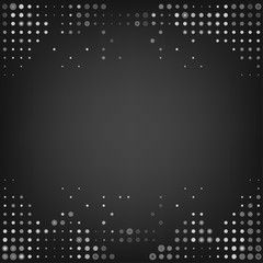 Vector grey dot abstract background