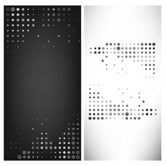 Vector illustration grey dot abstract template