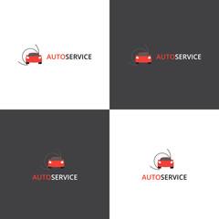 Vector logotype eps 10 car service company