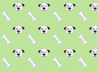 Dog pattern - vector seamless texture made with thin line dog paw footprint