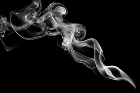 Smoke on black, abstract background for advertising and marketing