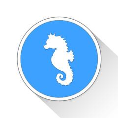 Seahorse Button Icon Business Concept