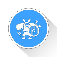 Viking Button Icon Business Concept